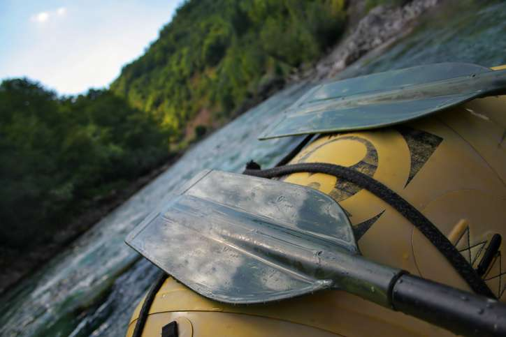 River view from an inflatable raft