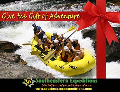 Chattooga River Rafting Gift Certificates