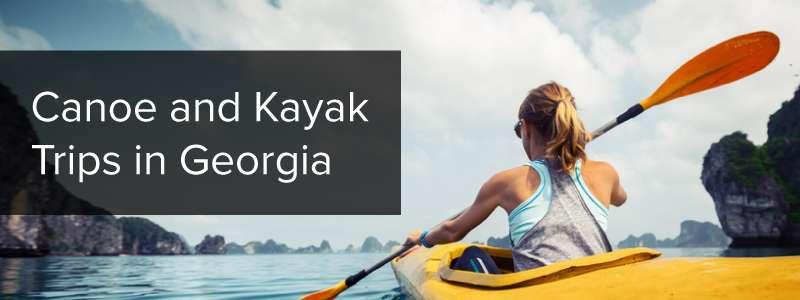 canoe and kayak trips in Georgia