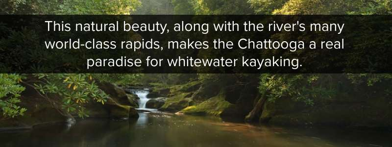 The natural beauty of the Chattooga river makes it a paradise for whitewater kayaking
